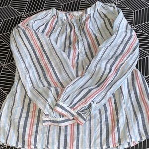 Time and Tru Small Striped Blouse